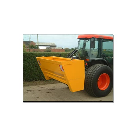 Drop Salt Spreader - Tractor Mounted - 1000L Self-Filling Hydraulic Drive