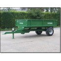 2 Ton Trailer - 2.44m x 1.52m - 30hp - Rear Tip