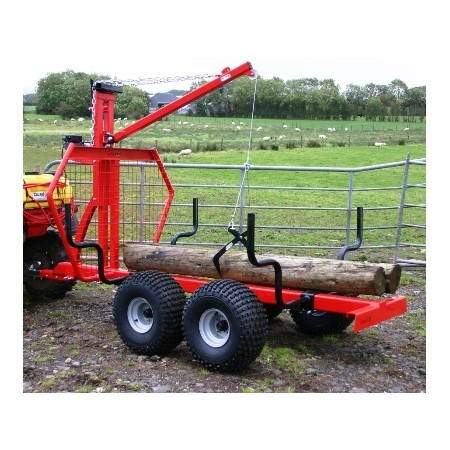 Log Trailer (Extreme Duty, with Manual Winch & Crane)