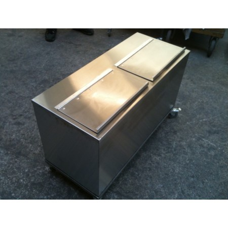 Delux Galvanised Feed Bin on Wheels