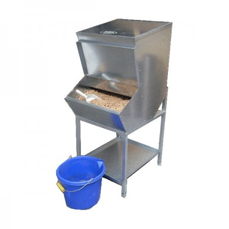 Double High Level Feed Bin