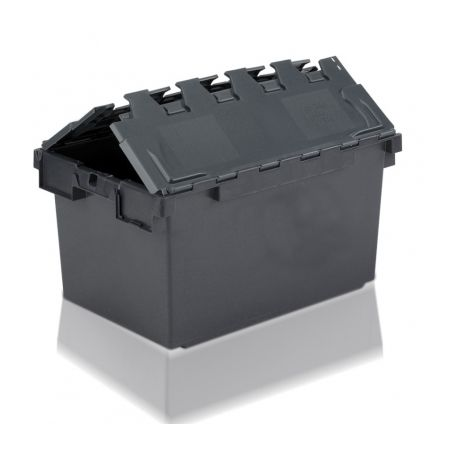 Tote Box, Attached Lid Container - 80L