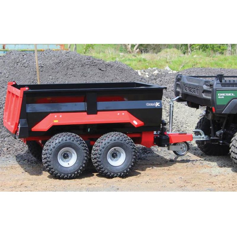 Dump Trailer with Hydraulic Tip - for Compact Tractor - 1000L