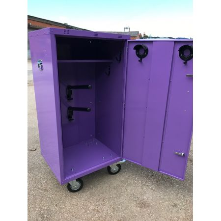 COLOURED 2 Saddle Mobile show locker with Heavy Duty wheels
