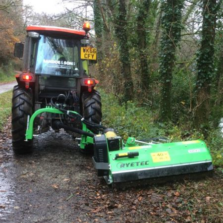 1.6m Heavy Duty Contractor Mini Multi-Use Offset Flail Mower with Hammer Flails