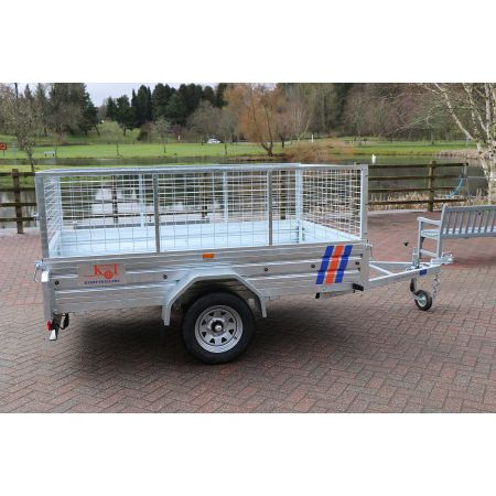 """Kirby Trailers 750kg Caged Heavy Duty Galvanised Box Utility Trailer 7x5"""""""