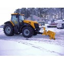 Heavy Duty Tractor and Telescopic Handler Snow Plough Blade - 2.4m wide 550mm high to clear 2150mm