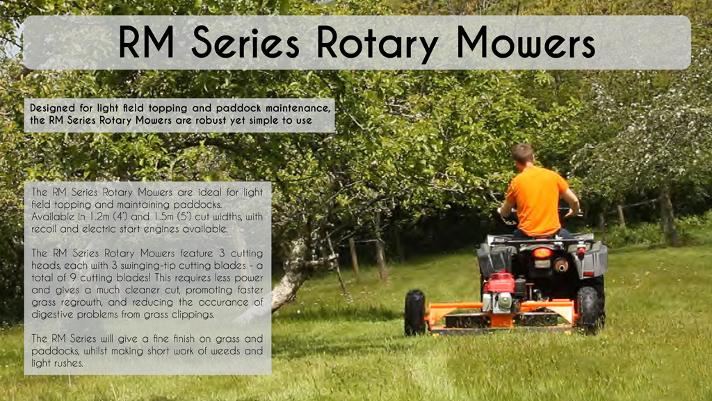 RM 120 Rotary Paddock Topper/Mower